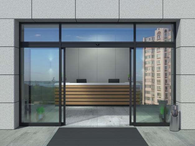 Автоматическая дверь для офиса: какой она должна быть